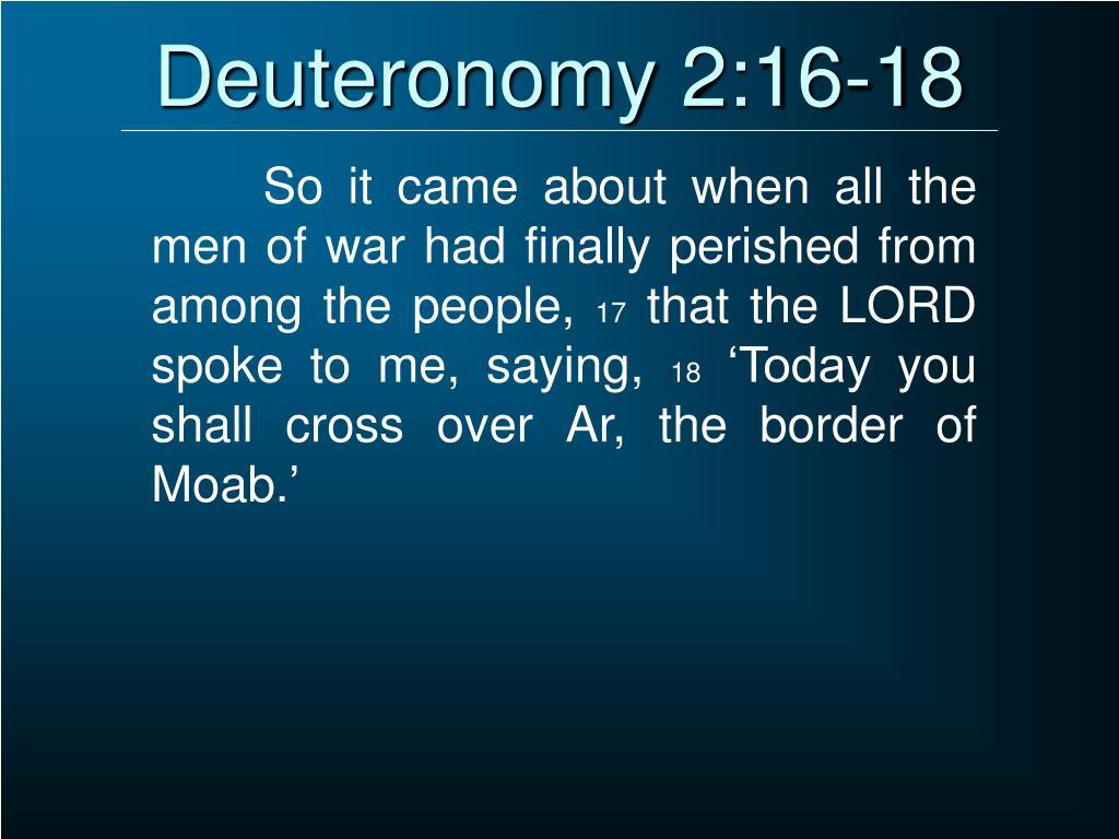 Deuteronomy 2:16-18