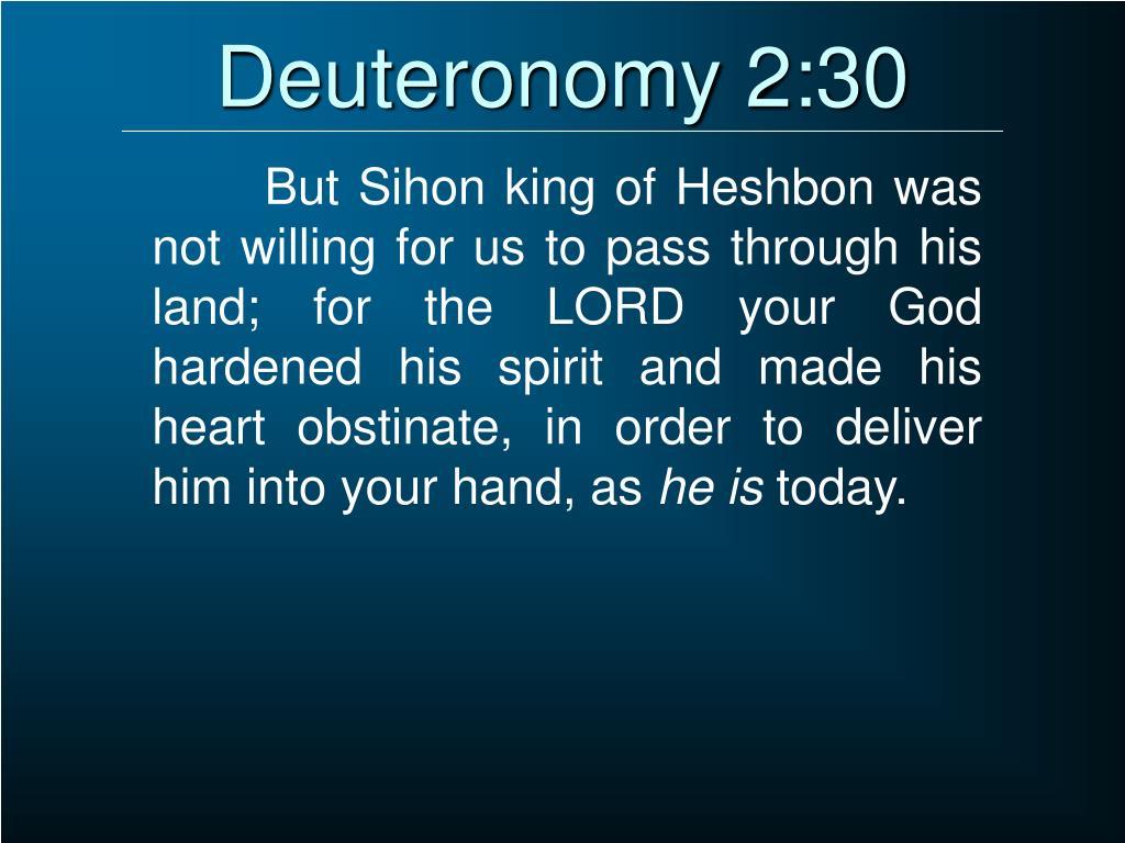 Deuteronomy 2:30