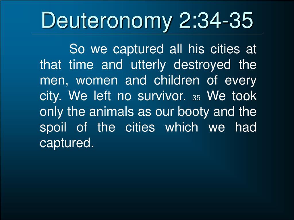 Deuteronomy 2:34-35