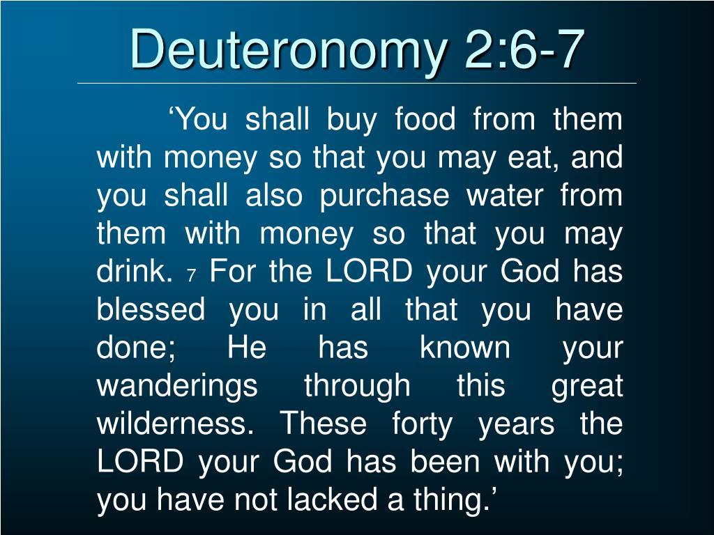 Deuteronomy 2:6-7