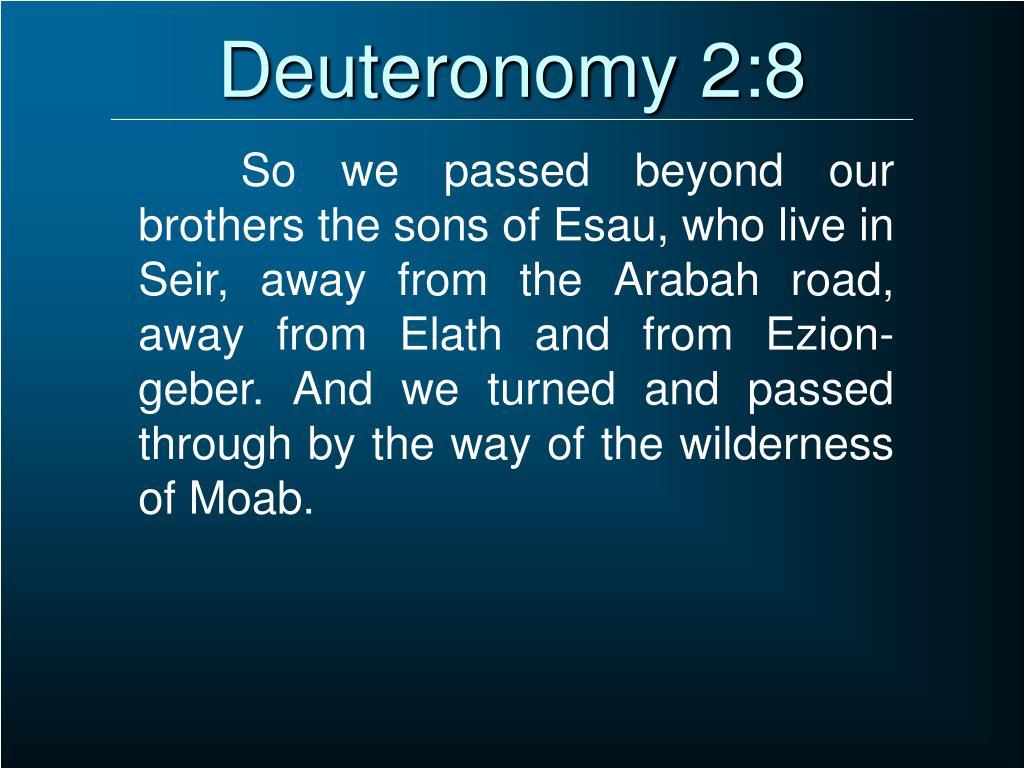 Deuteronomy 2:8