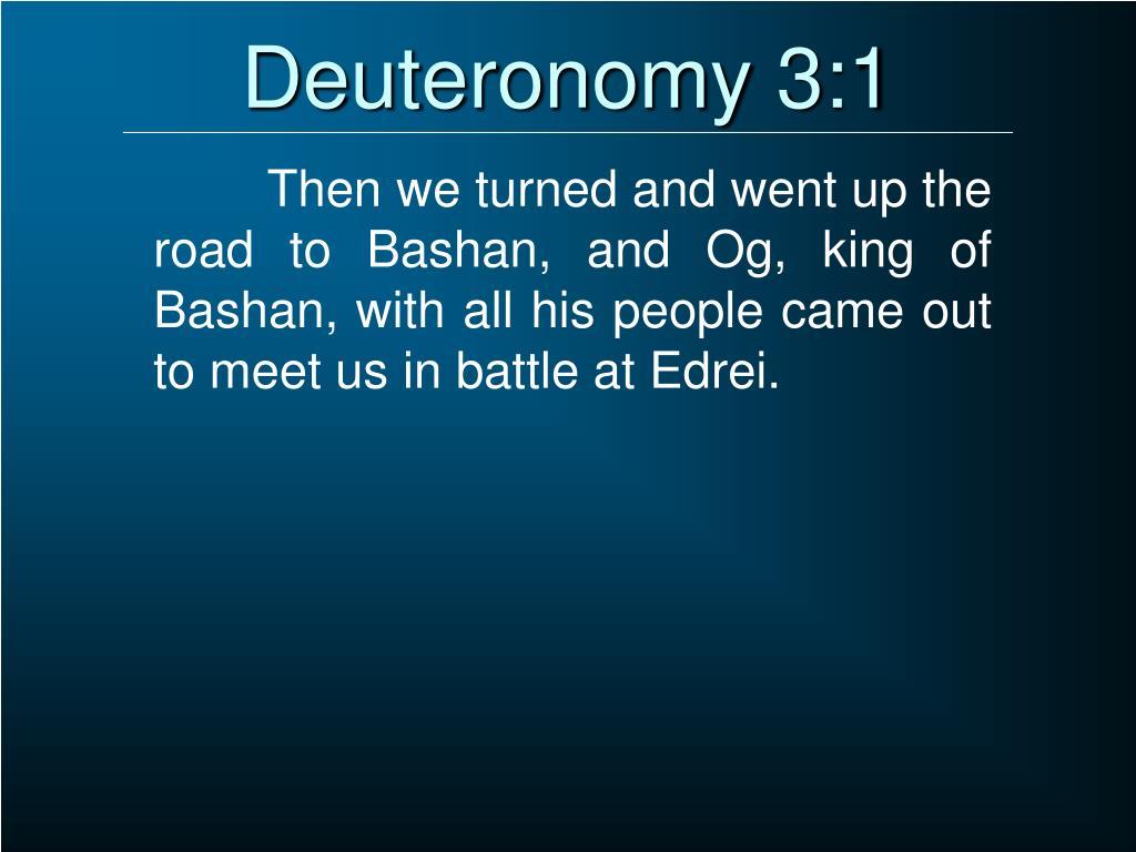 Deuteronomy 3:1