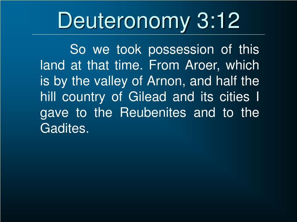 Deuteronomy 3:12