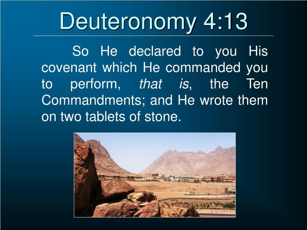 Deuteronomy 4:13