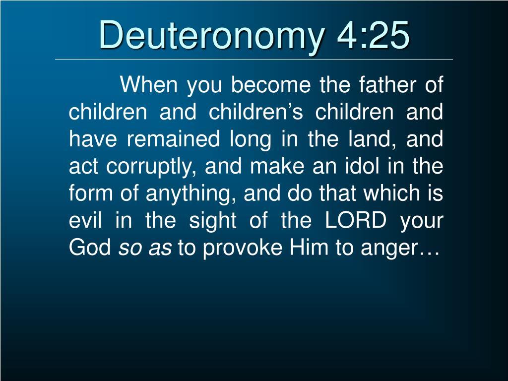 Deuteronomy 4:25