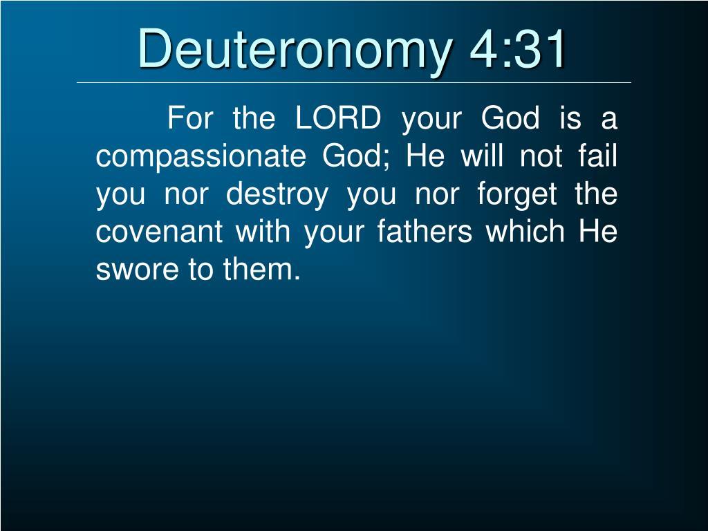 Deuteronomy 4:31