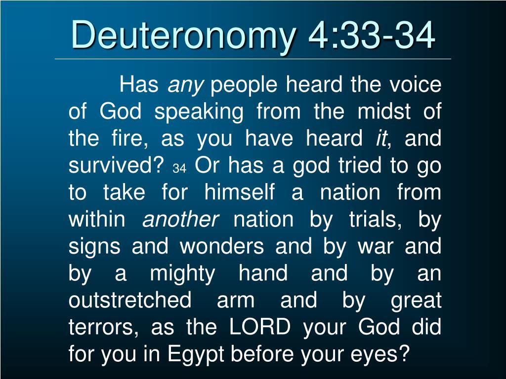 Deuteronomy 4:33-34