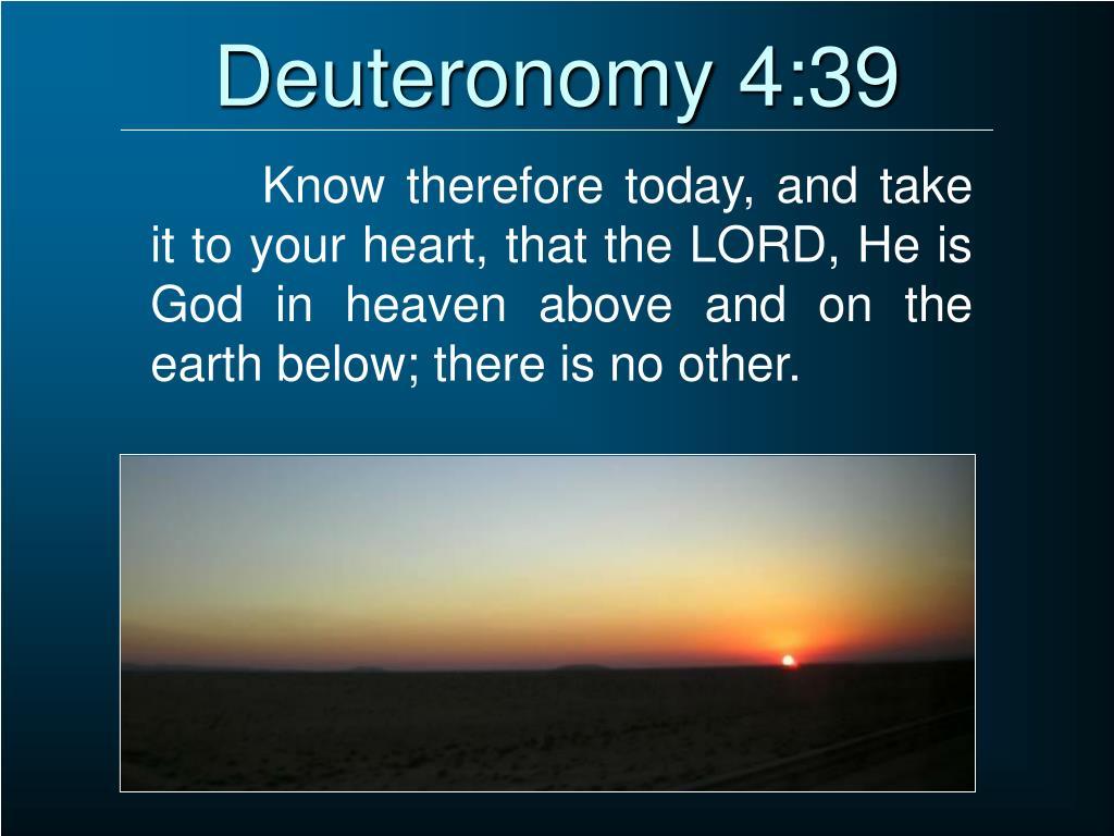 Deuteronomy 4:39