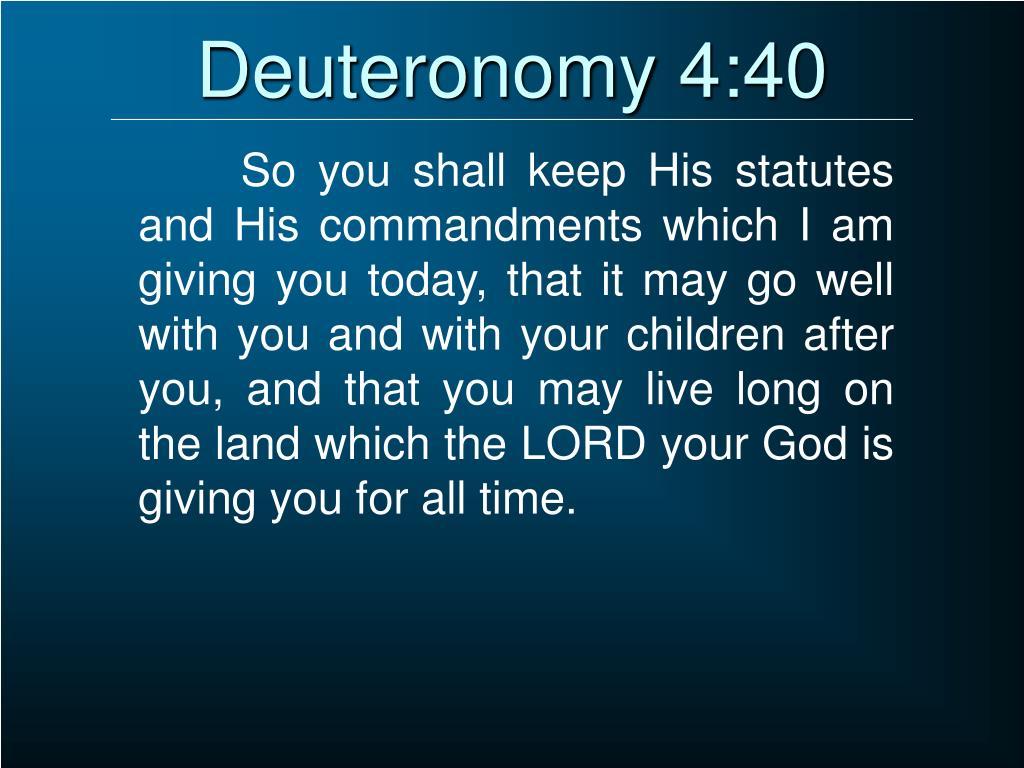 Deuteronomy 4:40