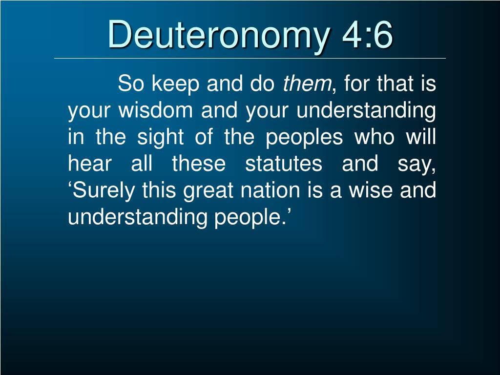 Deuteronomy 4:6