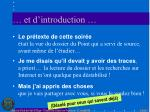 et d introduction