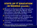 state of it education in nigeria contd10