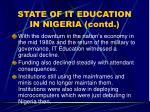 state of it education in nigeria contd11