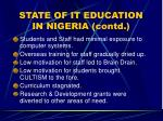 state of it education in nigeria contd12