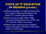 state of it education in nigeria contd14