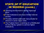 state of it education in nigeria contd17