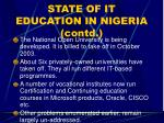 state of it education in nigeria contd18