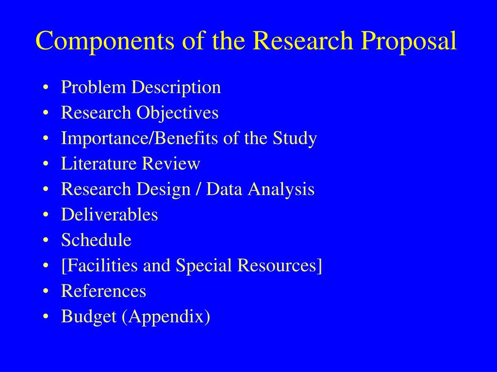 Do data analysis research proposal