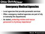 emergency medical agencies