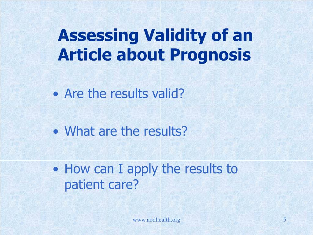 Assessing Validity of an