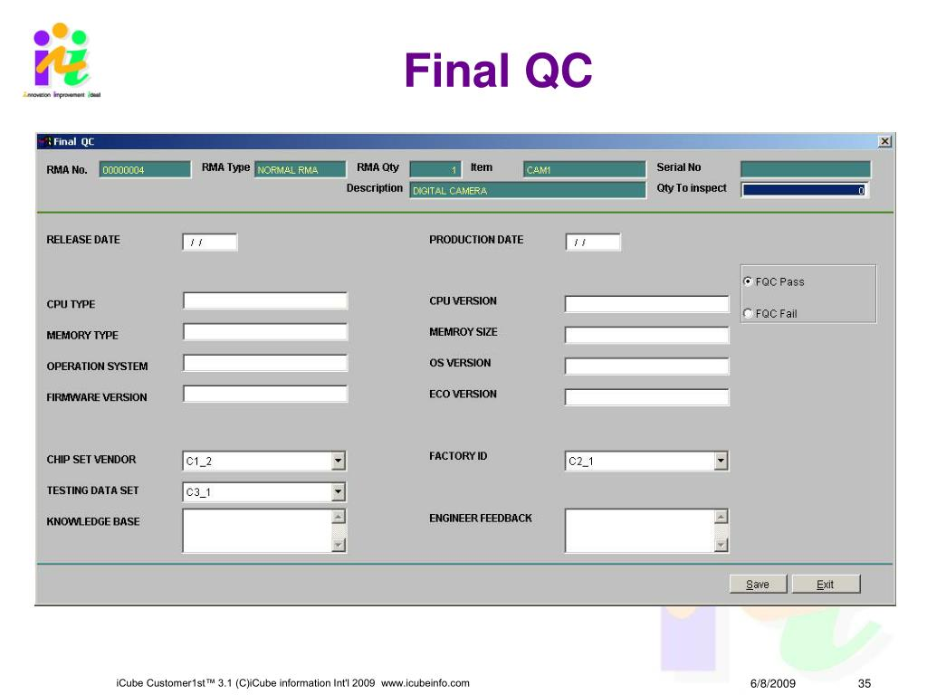 Final QC