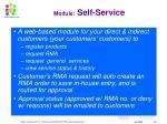 module self service