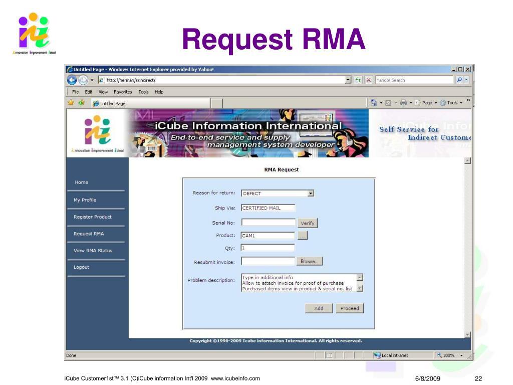Request RMA