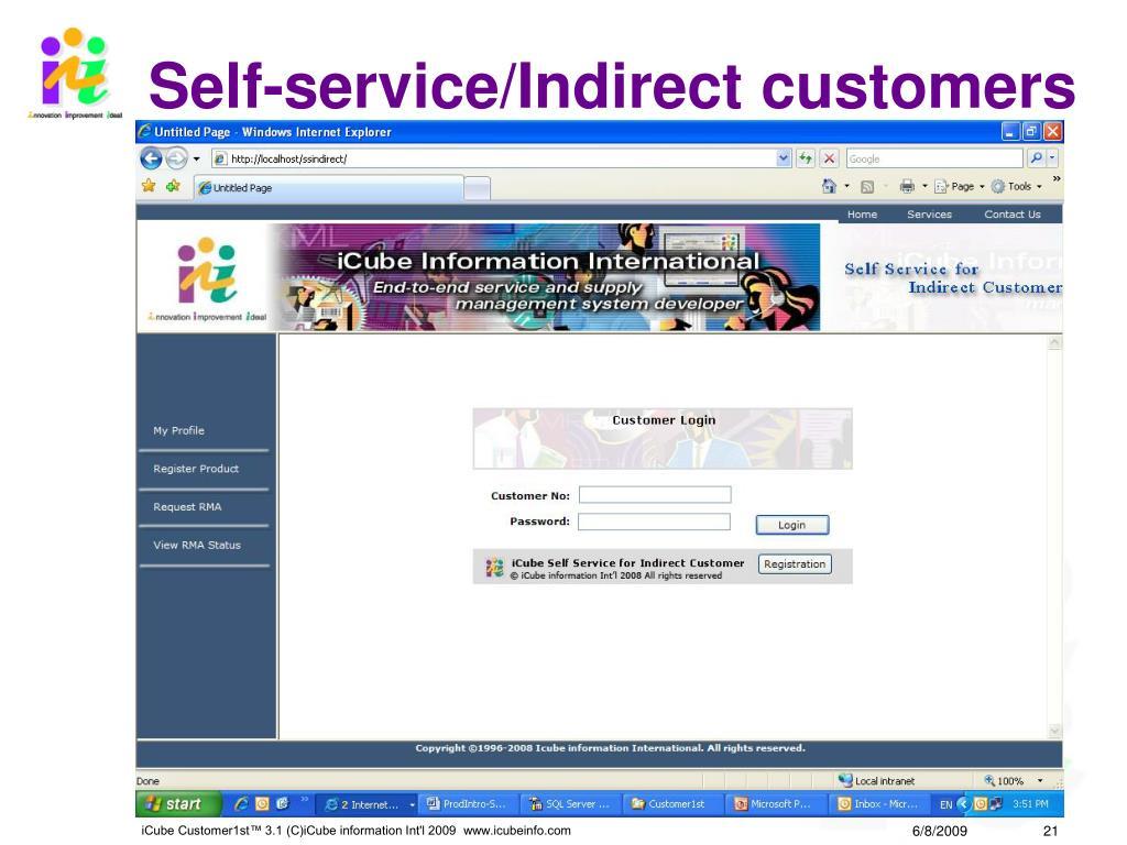 Self-service/Indirect customers