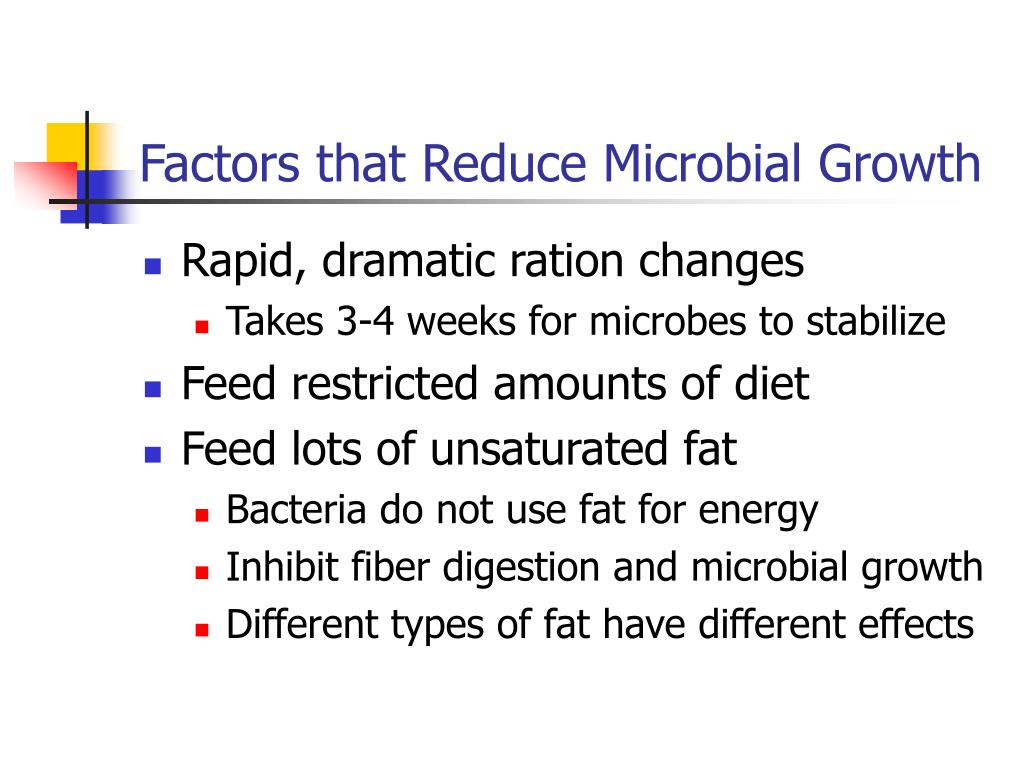 Factors that Reduce Microbial Growth