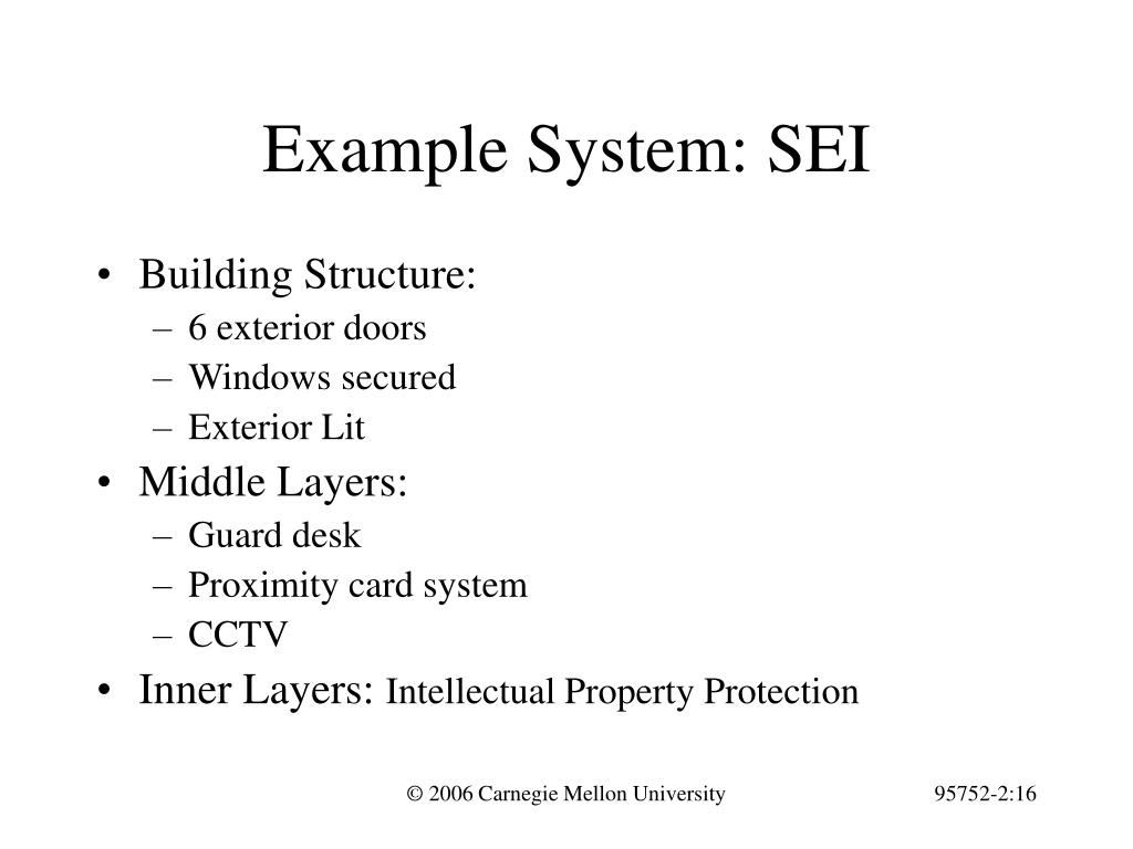 Example System: SEI