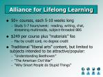 alliance for lifelong learning23