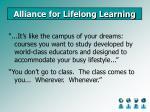alliance for lifelong learning24