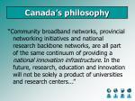 canada s philosophy
