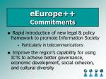 eeurope commitments