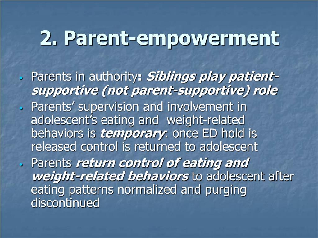 2. Parent-empowerment