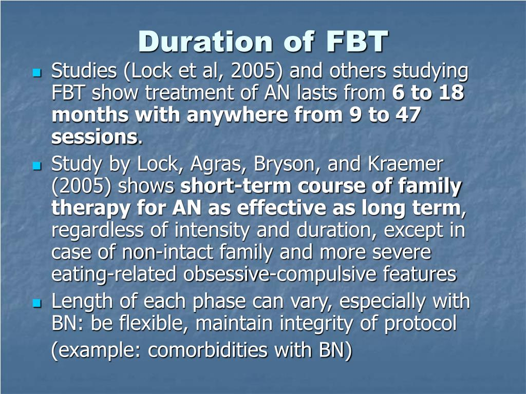 Duration of FBT