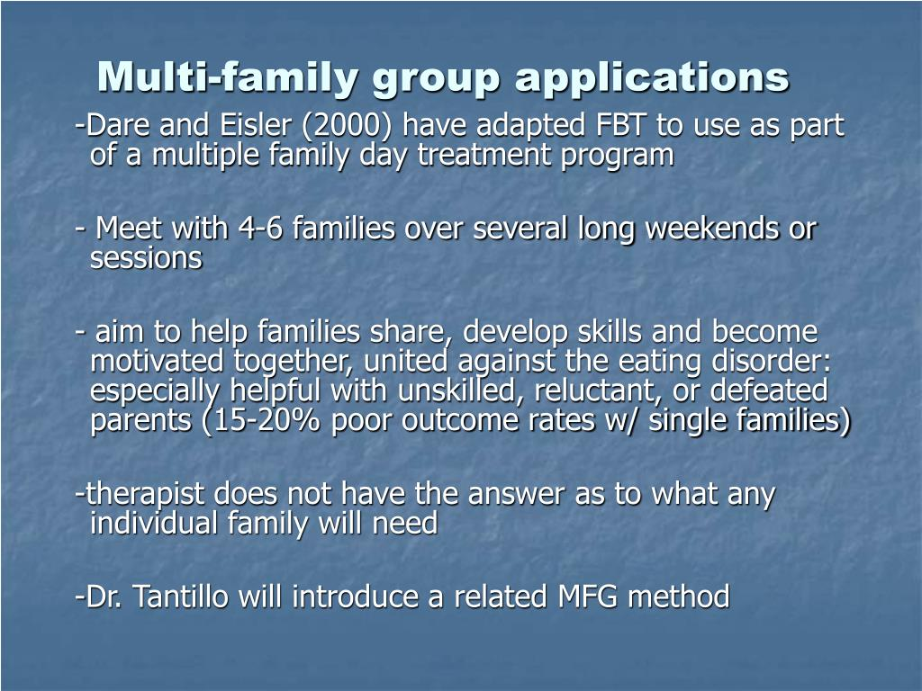 Multi-family group applications