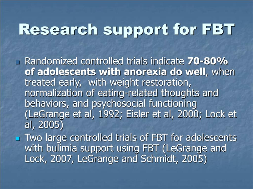 Research support for FBT