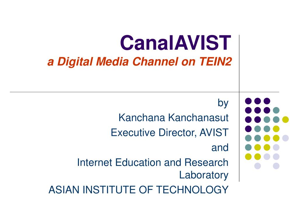 canalavist a digital media channel on tein2 l.