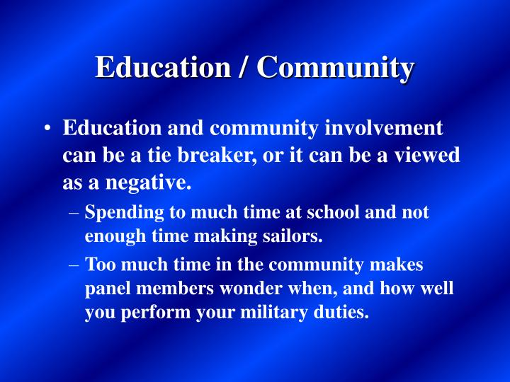Education / Community