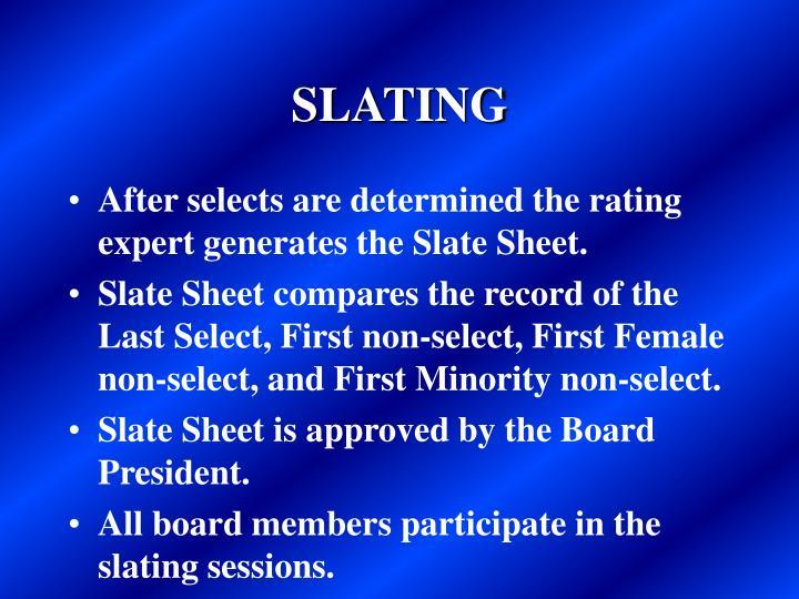 SLATING