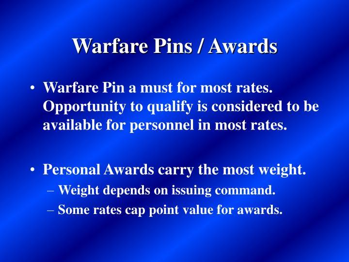 Warfare Pins / Awards
