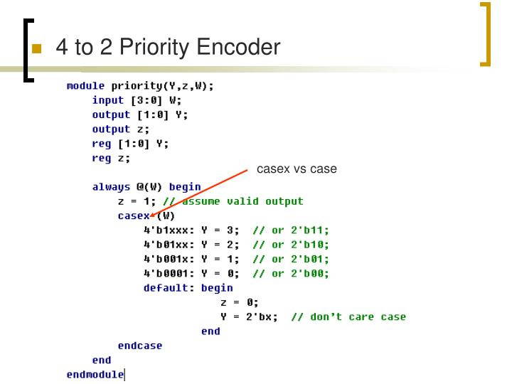 4 to 2 Priority Encoder