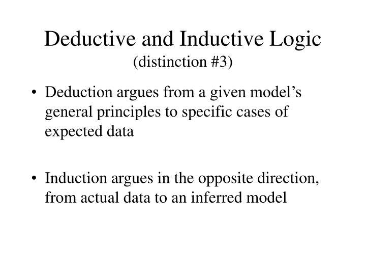 Deductive and Inductive Logic