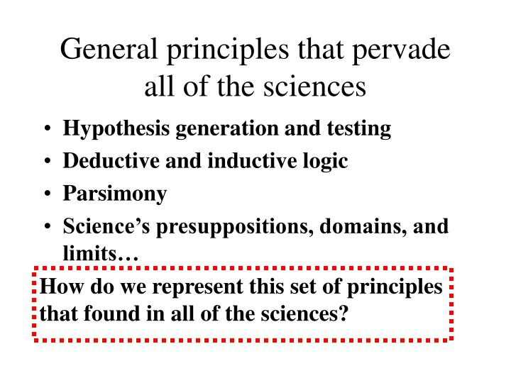 How do we represent this set of principles that found in all of the sciences?