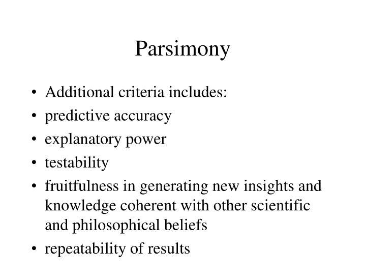 Parsimony