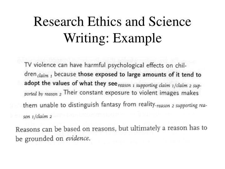 Research Ethics and Science Writing: Example