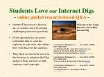 students love our internet digs online guided research based q a
