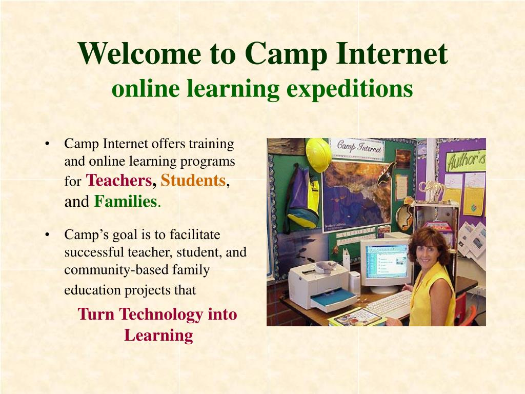 welcome to camp internet online learning expeditions l.
