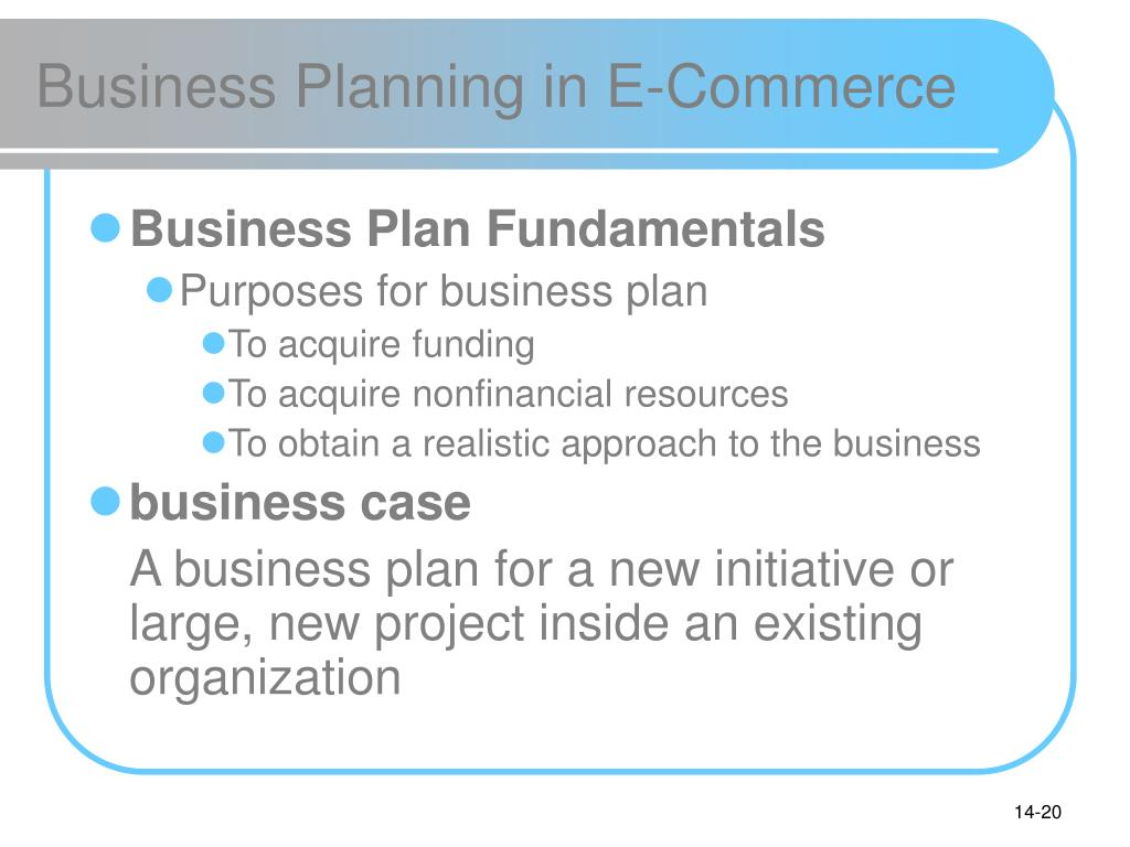 Business Planning in E-Commerce